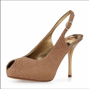Sam Edelman Evelyn snakeskin peep toe heels pumps